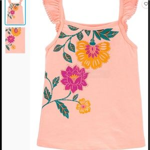 NWT - Cute flower tank top